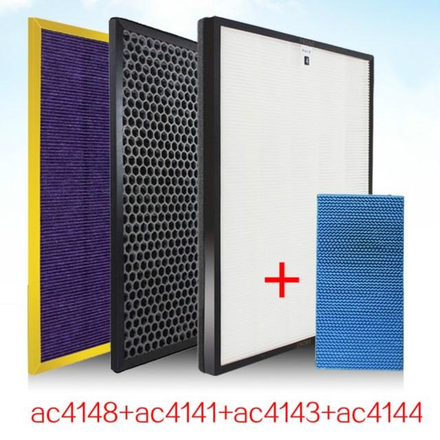 4 pcs ac4148 AC4141 AC4143 ac4144 เครื่องฟอกอากาศสำหรับ Philips AC4084 AC4085 AC4086 ความชื้นเครื่องฟอกอากาศอะไหล่