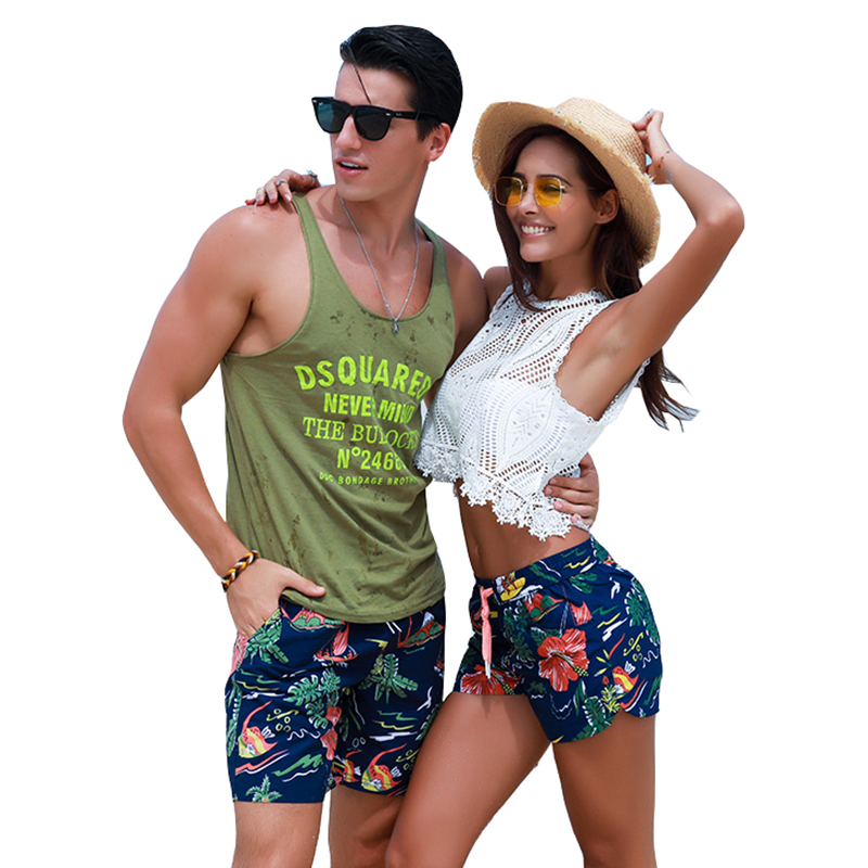 Sport Board Shorts Surfing Beach Running Surfing Short Couple Swimwear Maillot De Bain Fast Dry Bermuda Lovers Swimming Trunks image