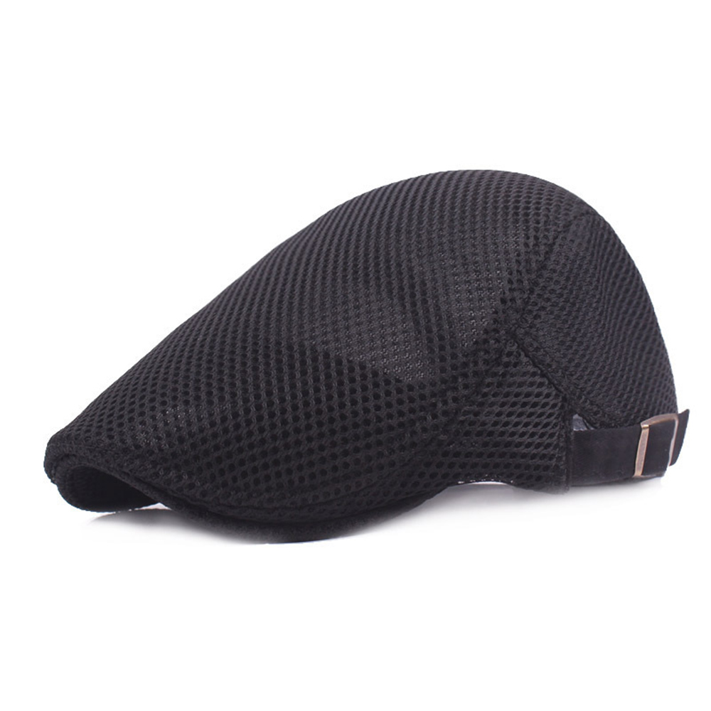 4e84b8a73a2 Lace Men Sun Hats Caps Travel Cool Breathable Shade Berets Hats for Men  Network Male Hats