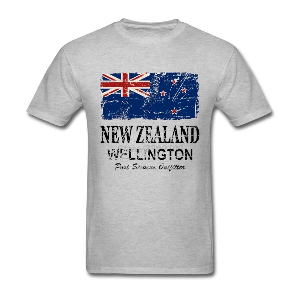 Design t shirt new zealand - Swag Short Sleeve Pre Cotton New Zealand Flag Men T Shirt White T Shirt