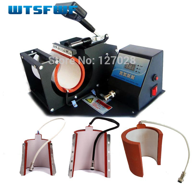 Wtsfwf Hot 4in1 Digital Mug Pemindah Transfer Mesin Pencetak Mug Heat Press Printer Machine