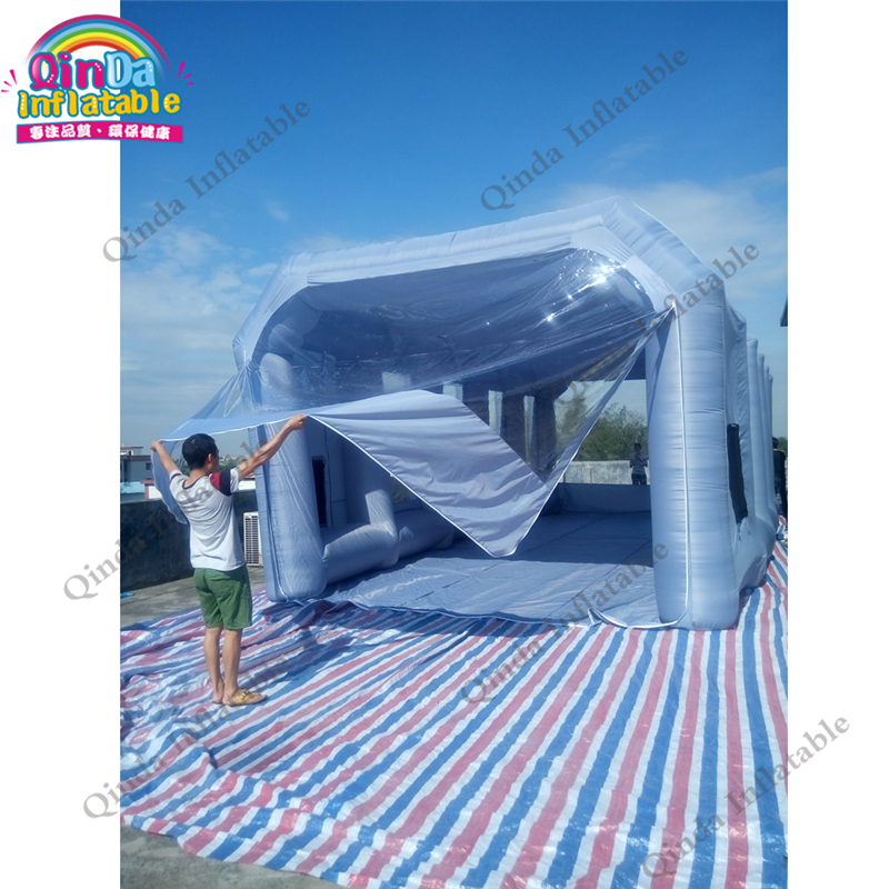все цены на Long Working Life Mobile Folding Paint Booth for Sale inflatable spray paint booth with free air blowers and filters онлайн