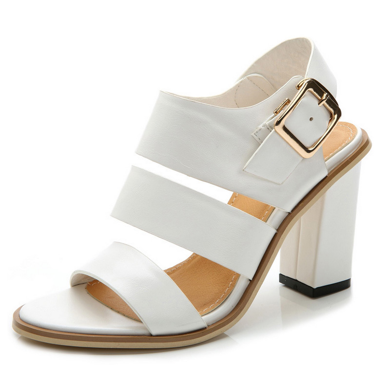 Popular White Chunky Heel Sandals-Buy Cheap White Chunky Heel ...