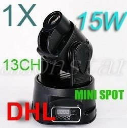 LED RGB Party DJ Disco Light MOVING HEAD 15W SPOT 13DMX, For USA buyers Only