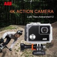 מצלמה פעולה המקורי AEE Lyfe טיטאן 4 K/30fps 1440 P/60fps 1080 P/100fps Ambarella A12 WIFI החכם Full HD DV מיני מצלמה ספורט