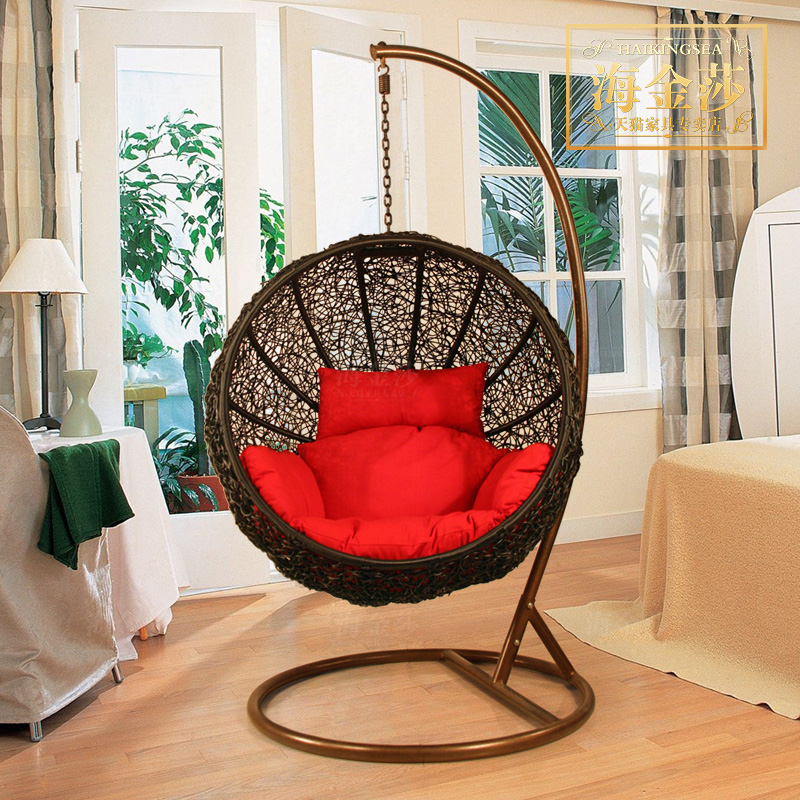 Rattan chair swing hanging chair rattan hanging basket indoor outdoor sofa  chair double balcony outdoor furniture-in Patio Swings from Furniture on ...