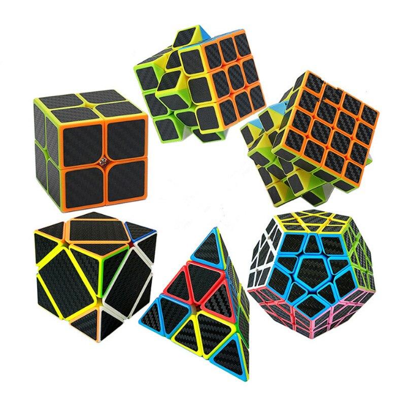 Zcube Carbon Fiber Sticker Speed font b Magic b font Speed font b Cube b font