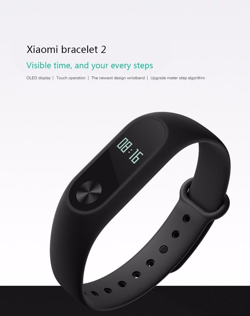 Original Xiaomi Mi Band 2 Fitness Smart Bracelet,Heart Rate Pulse Monitor,Pedometer,Activity Tracker,Bluetooth Smart Wristband 4