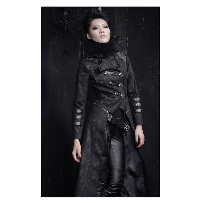 Popular Gothic Trench Coats Women-Buy Cheap Gothic Trench Coats ...