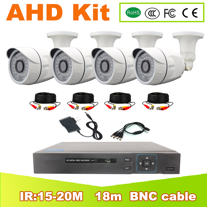YUNSYE AHD KIT DVR 4CH CCTV System 1080P HDMI AHD CCTV DVR 4PCS 2.0 MP IR Outdoor Security Camera AHD Camera Surveillance Kit security camera system hd 4ch cctv system 1080p hdmi ahd dvr 2pcs 720p 1080p ahd cameras cctv ir outdoor surveillance system