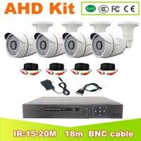 YUNSYE AHD KIT DVR 4CH CCTV System 1080P HDMI AHD CCTV DVR 4PCS 2.0 MP IR Outdoor Security Camera AHD Camera Surveillance Kit