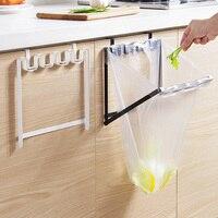 1 SZTUK Europejski Żelaza Garbage Bag Storage Rack Składane Kuchnia Plastikowej Torbie Mocne Rack 2D