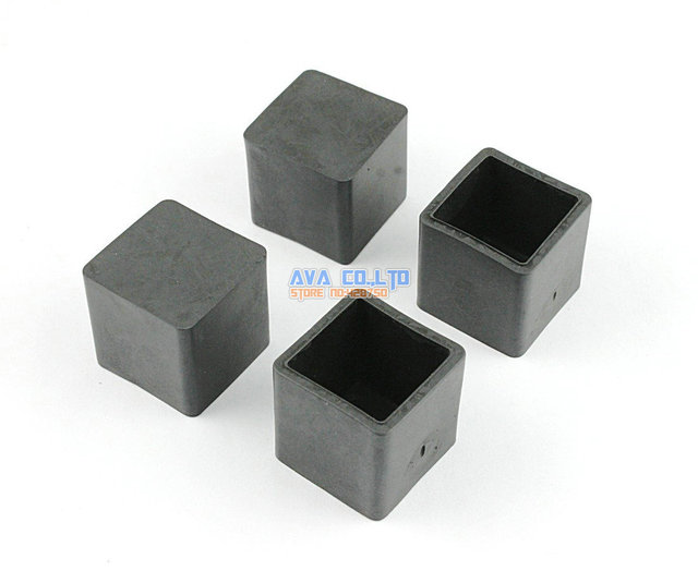Tischfüsse 28 stücke 20x20mm quadrat gummi möbel stuhl tisch füße bein