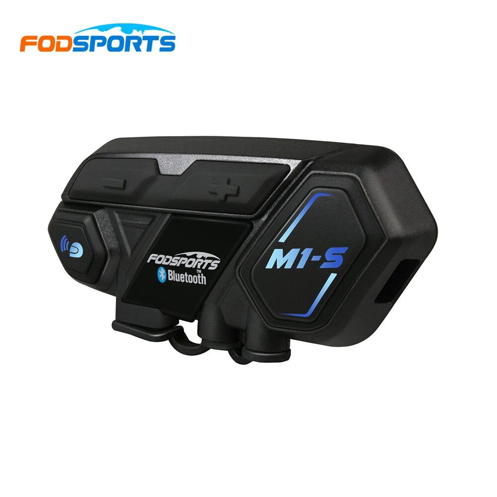Bluetooth 4,1 M1-S motorrad bluetooth helm intercom-headset bis zu 8 fahrer gruppe reden motorrad wasserdichte sprech