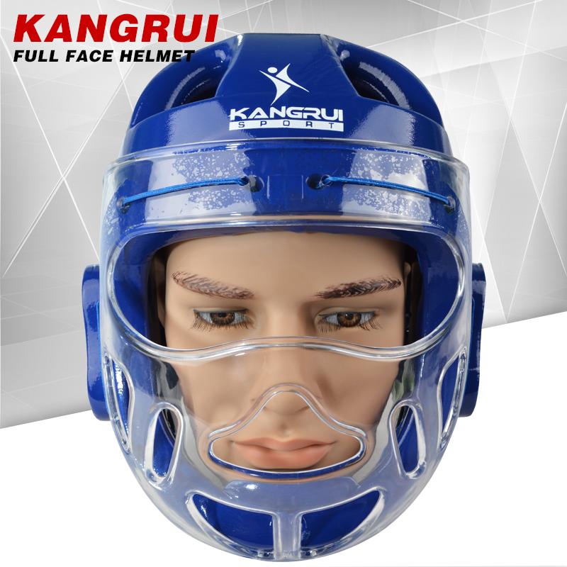 Prix pour Haute performance durable karaté casque KK561 bleu adulte hommes femmes contre la lutte contre taekwondo protecteur MMA coiffures boxe karaté casque
