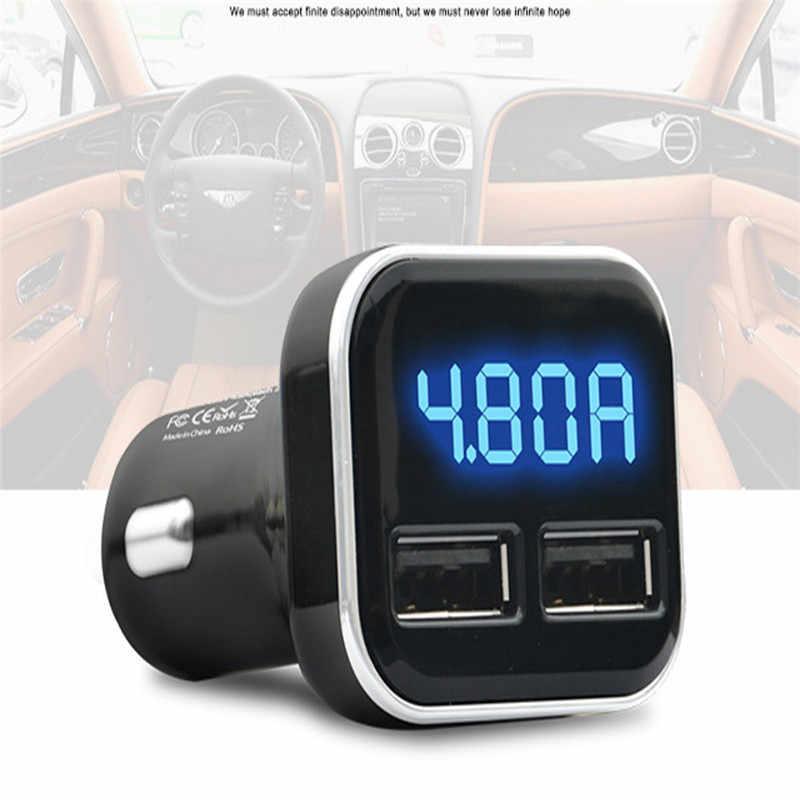 Kongyide شاحن سيارة مصغرة سريعة تهمة المزدوج USB شاحن سيارة ذكي محول الجهد DC 5 V 4.8A اختبار 12 V-24 V دروبشيب mar7