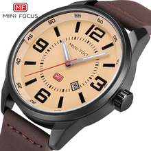 Fashion Brand mini focus Sports Watches Men's Quartz Glowing Hands Clock Leather Military Wristwatch Relogio Masculino Relojes