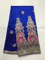 Синий Высокое качество Африканский Джордж кружевной ткани/Последней Африканской швейцарской кружевной ткани для вечерние Нигерия Жорж дл