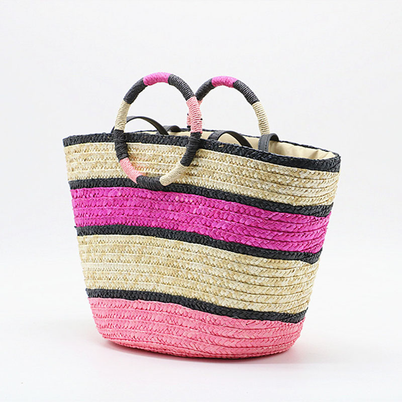 Women Beach Tote Bags for Fashion Tassel Drawstring Straw Bag Handmade Woven High Quality Shoulder Bags Ladies Shopping Tote Bag in Shoulder Bags from Luggage Bags