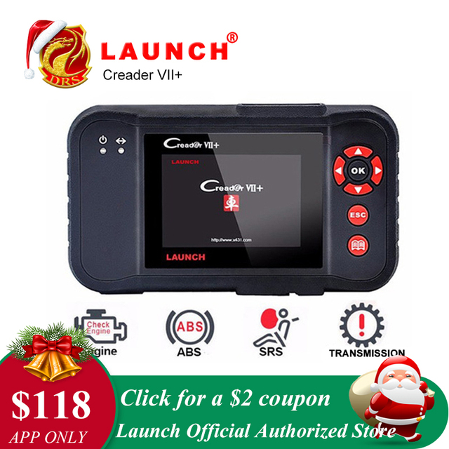 Flash Promo Launch X431 Creader VII Plus VII+ Auto Code Reader OBD2 OBD 2 Scanner Launch CRP123 OBDII Diagnostic Tool Automotive Scan Tool