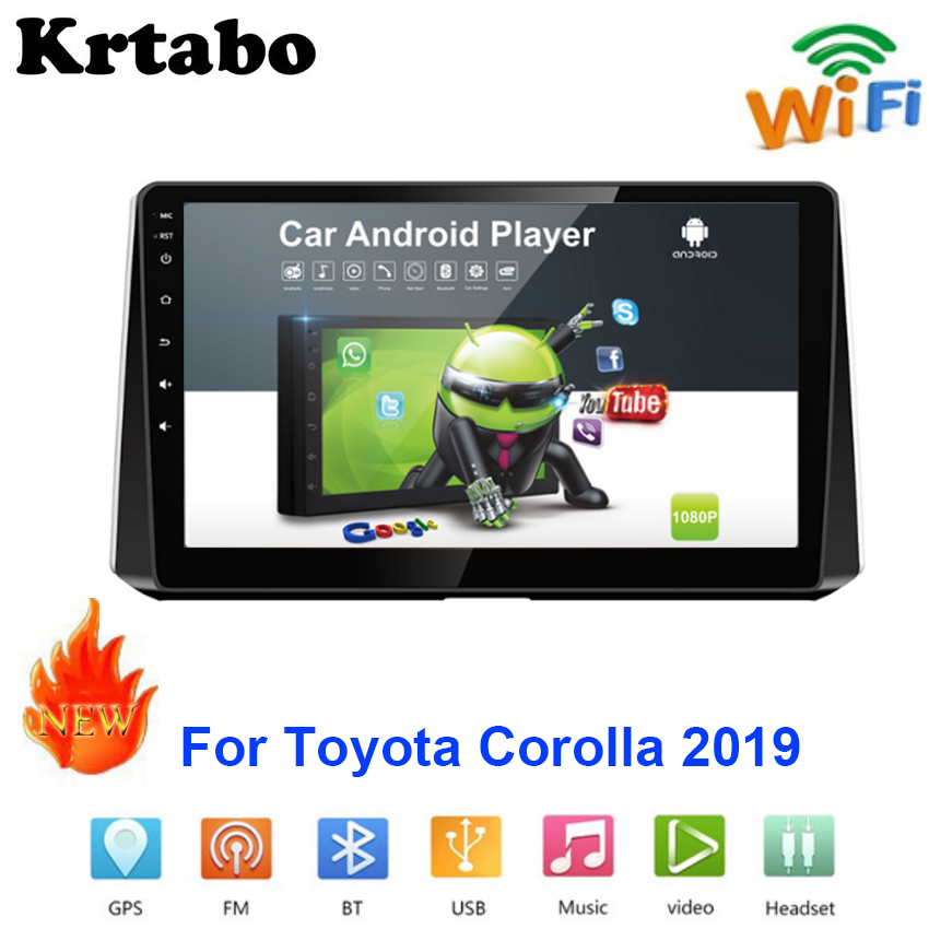 Car radio Android <font><b>multimedia</b></font> player For <font><b>Toyota</b></font> <font><b>Corolla</b></font> <font><b>2019</b></font> Bluetooth Car touch screen GPS Navigation Stereo Audio WIFI image
