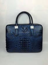100% подлинная крокодиловой кожи портфель мужчины сумку для ноутбука роскошные aligator кожа кожа мужчины деловая сумка красочный 14 inch