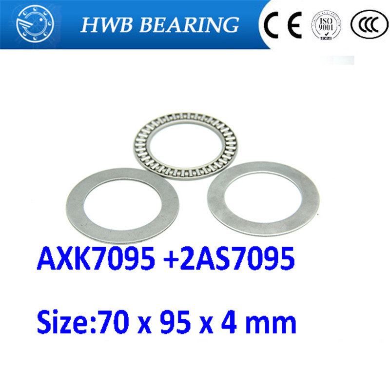 Free shipping 2pcs AXK series AXK7095 +2AS7095 thrust needle roller bearing 70x95x4mm bearing +whosale and retail na4910 heavy duty needle roller bearing entity needle bearing with inner ring 4524910 size 50 72 22