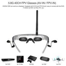 Hot Óculos FPV Óculos De Vídeo de 62 polegada de Tela LCD 4:3 Multifunções 3D Óculos de Vídeo para RC Zangão/Computador/TV 3D virtual lentes