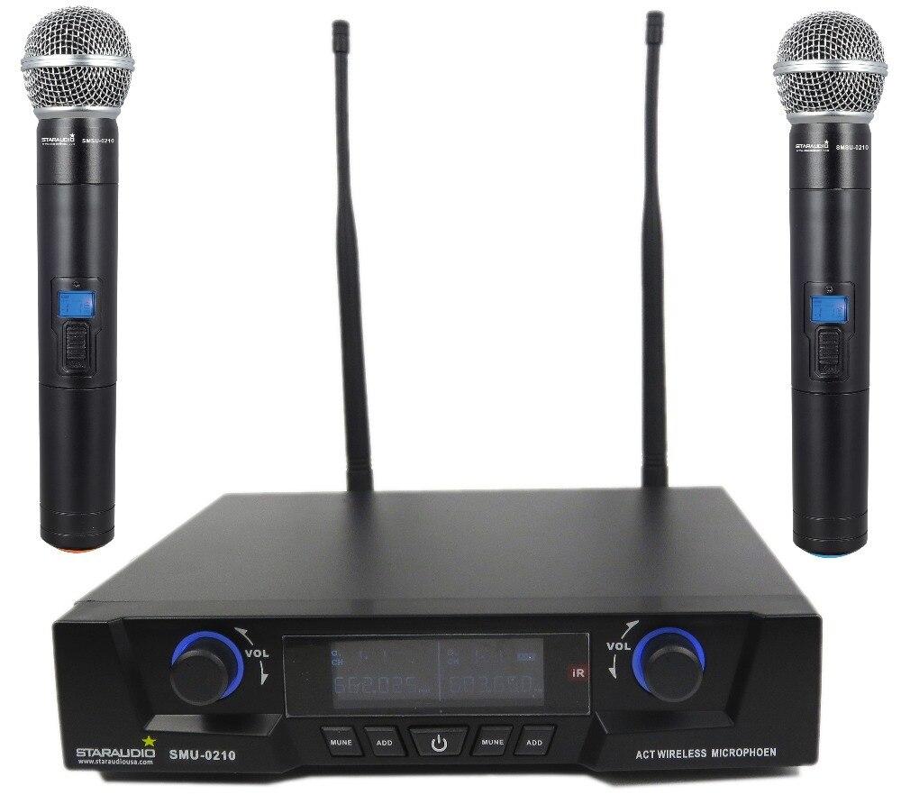STARAUDIO Pro DJ Stage KTV 10 Channel USB Bluetooth Mp3 Mixer W/ 2CH UHF Wireless IR Mic System SMX-1000B