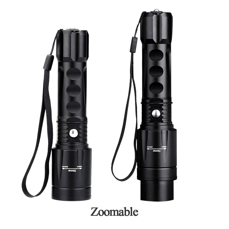 2017 New 5000 Lumens Tactical Flashlight LED CREE XM-L T6 Flashlight Zoomable Focus Torch Light Lamp for  3*AAA or 1*18650 new 2014 hot sale new torch zoomable t6 led flashlight cree xm l t6 light tactical flashlight high powe