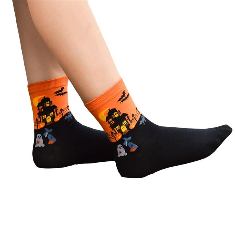 Women's Fashion Sports Socks Medium Work Business Socks Halloween printed Coral Fleece socks Highly elastic warm socks #2s26 (3)