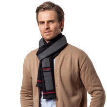 New Mid-aged Cashmere Mens Scarf for Leisure Neck in Autumn and Winter