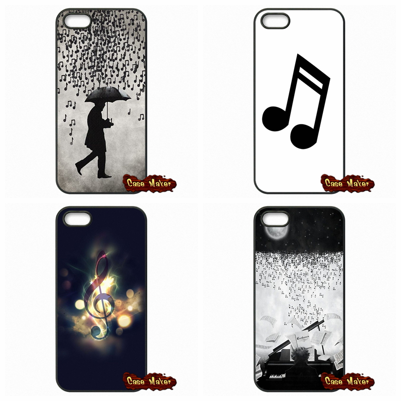 MUSIC NOTES MUSIC IS LIFE Phone Case Cover For Apple iPod Touch 4 5 6 iPhone 4 4S 5 5C SE 6 6S 7 Plus 4.7 5.5