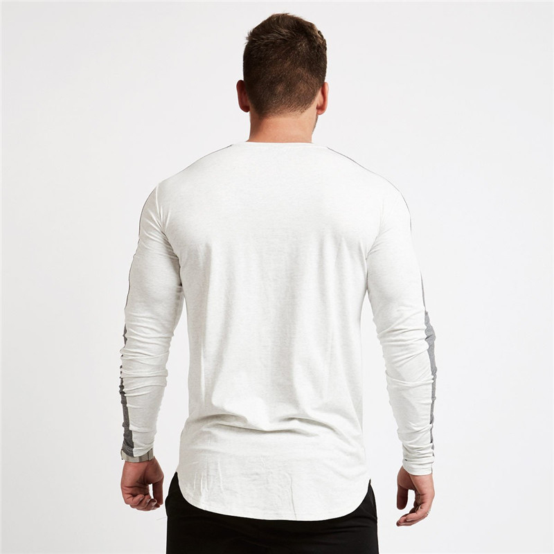men long sleeved t shirt gyms Fitness-7