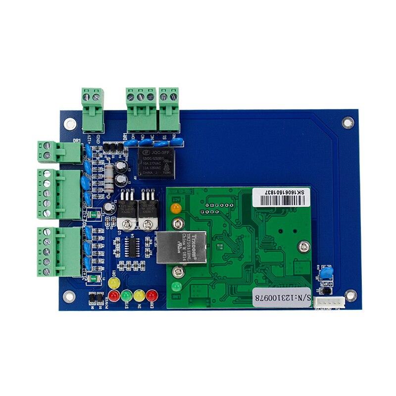 Carte de circuit imprimé de réseau de communication d'ip de TCP de base de données d'accès de panneau de commande de porte simple de 12 V pour la présence de temps