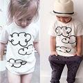 2016 Lindo Tops Camiseta de la Camisa de Los Muchachos Del Cabrito Fresco Ropa de Los Muchachos Niños Niñas T-shirt