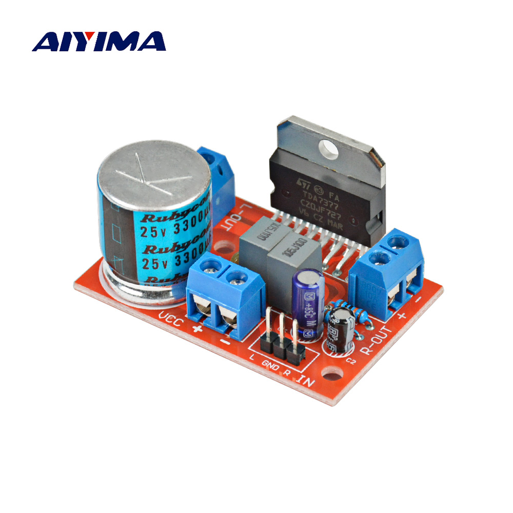 Aiyima Audio Stereo Two Channel Relay 4 Way Sound Source Selection Upc1237 Mirror Symmetry Circuit Time Delay Speaker Protection Board Amplifiers Amplificador Tda7377 Power Amplifier 35w X Amp