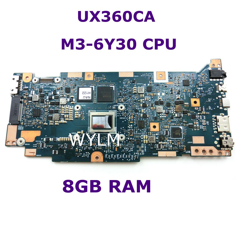 UX360CA M3-6Y30 CPU 8GB RAM Mainboard For ASUS U360C UX360 UX360C UX360CA Zenbook Motherboard 90NB0BA0-R00020 100% Tested kefu for asus zenbook ux305ca ux305c ux305 m3 6y30 cpu 8gb memory laptop motherboard tested 100