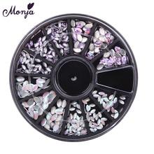Monja 3/4. 5 мм для дизайна ногтей с плоской задней поверхностью акриловые овальные конские глазки 3D DIY очаровательные блестящие алмазы для ногтей круглые декоративные стразы