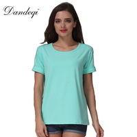 2016 New Women T Shirt Candy Colors Female Short Sleeved Harajuku Shirts Casual O Neck Tee