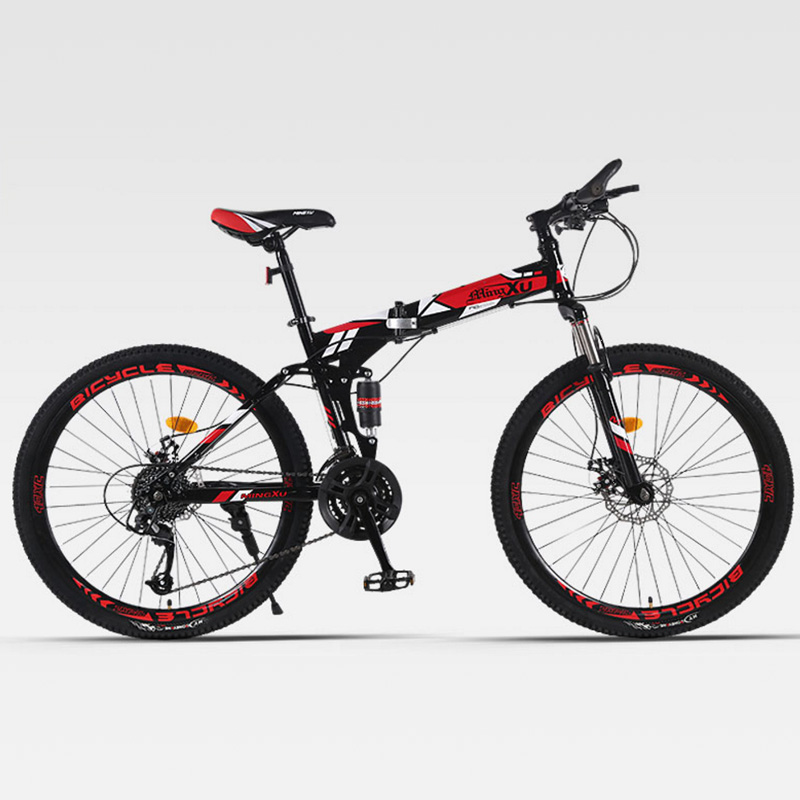 Mountain Bicycle Folding Spoke Wheel Double Shock Absorber Adult Cross-Country Men And Women