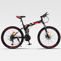Mountain Bicycle Folding Spoke Wheel Double Shock Absorber Adult Cross Country Men and Women