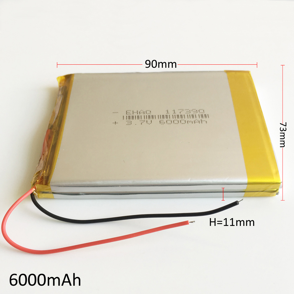 <font><b>3.7V</b></font> <font><b>6000mAh</b></font> Lithium Polymer combine <font><b>LiPo</b></font> Rechargeable <font><b>Battery</b></font> For PAD GPS PSP DVD Power bank 7
