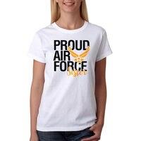 ความภาคภูมิใจกองทัพอากาศน้องสาวเสื้อสตรีสีขาวใหม่ขนาดS-XLสุภาพสตรีเสื้อยืดราคาถูกใหม่2017จั...