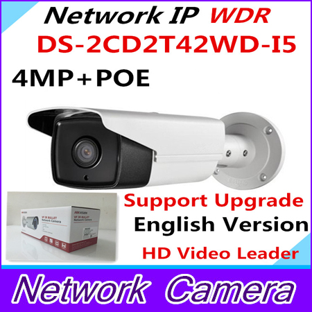 4MP Multi Language IR Bullet Network IP Camera In stock English Version IP Camera DS-2CD2T42WD-I5 Support H.264+ WDR Function