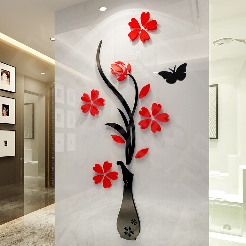 Online buy wholesale mirror tv from china mirror tv wholesalers - Stickers couloir maison ...