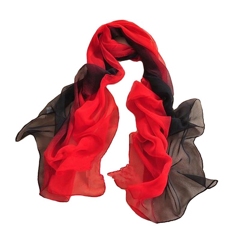 Winter Shawl Chiffon Scarf Women Gradient Scarves Colorful High Quality Fashion Female Shawls And Wraps Lady Scarves 18 Colors