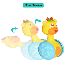 UainCube Baby Rattles Tumbler Doll Toys Sweet Bell Music Roly-poly Learning Education Gifts LXX
