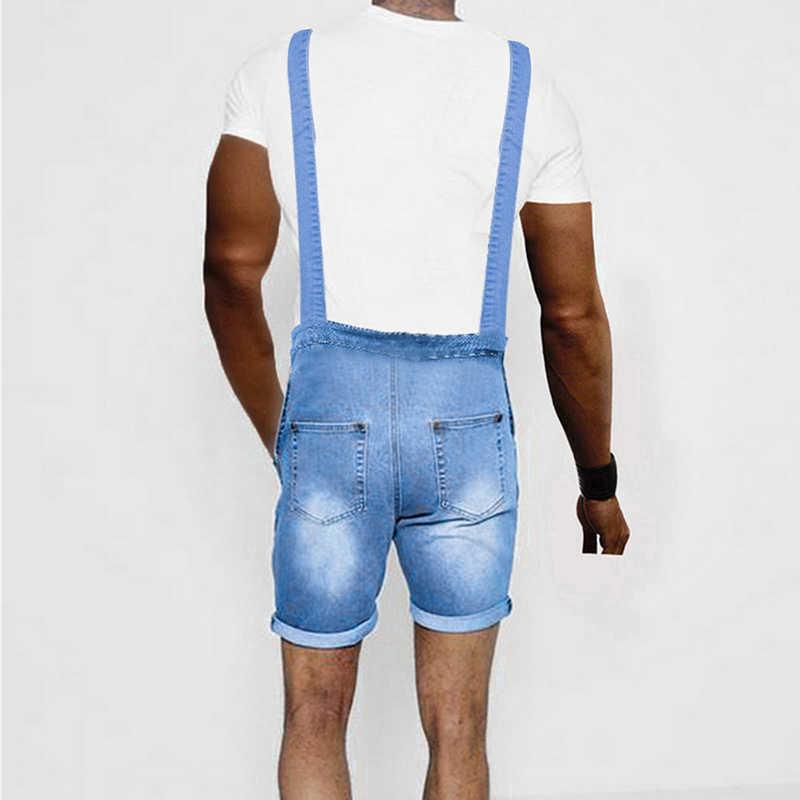 SHUJIN 2019 мужские короткие джинсы Модные Карманы, набедренный хоп джинсовый комбинезон Повседневная Уличная Хип Хоп обтягивающие короткие джинсы комбинезон плюс размер