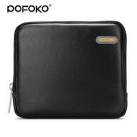 POFOKO PU Leather Waterproof External Hard Drive Case 2 5 Portable Cosmetic Bag For Travel Business